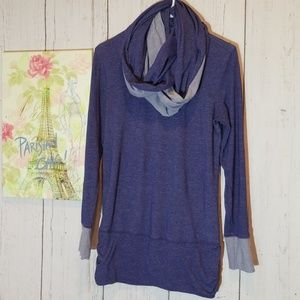 Lucy Cowl Neck Infinity Scarf Tunic Small